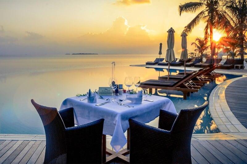 all inclusive maldiverna solnedgång