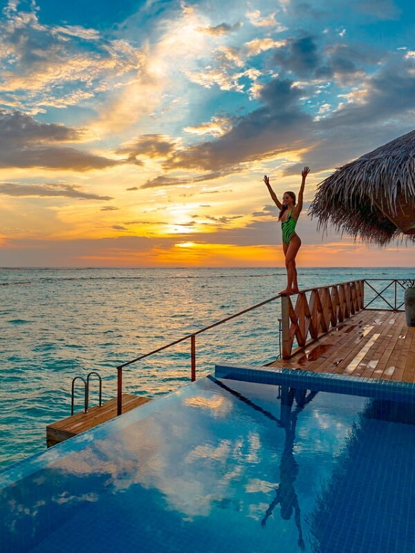 resa till maldiverna pool