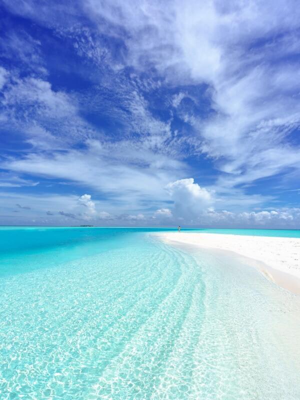 resa till maldiverna strand