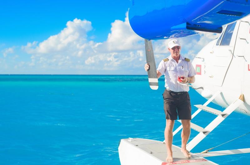 sjöflyg seaplane maldiverna