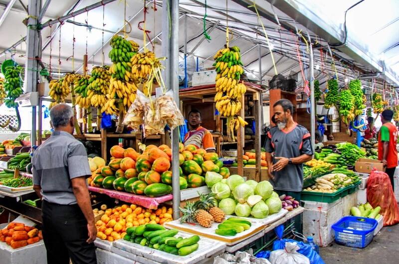 lokal marknad malé maldiverna