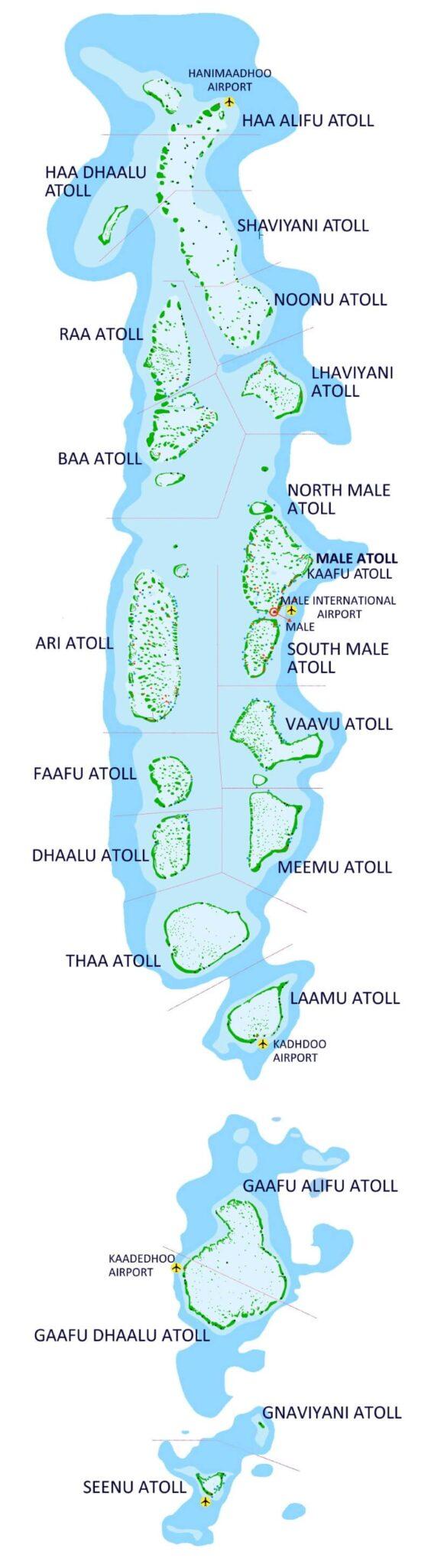 maldiverna atoller öar karta