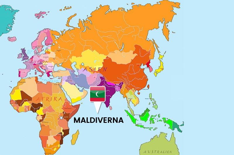 maldiverna karta - var ligger maldiverna - världskarta