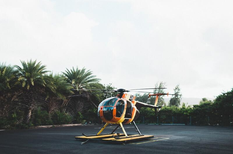 att göra på maldiverna - helikopter