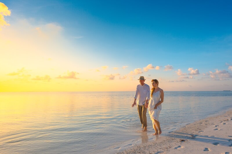 att göra på maldiverna - promenader strand