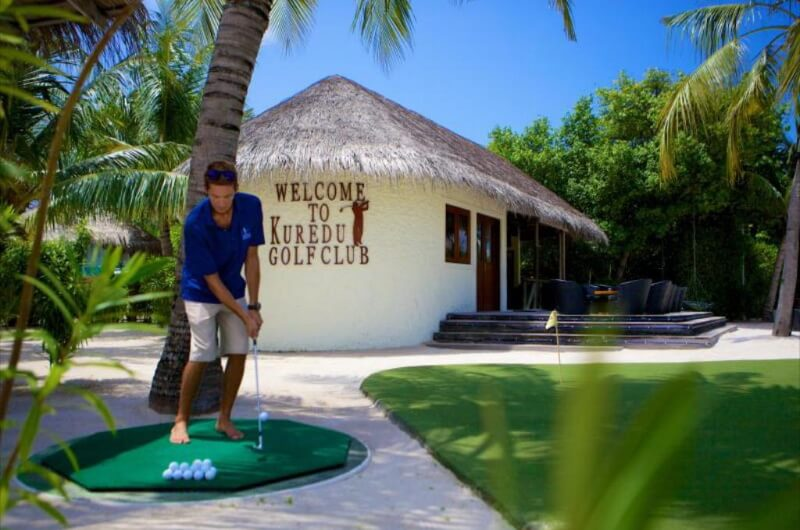 golf maldiverna - kuredu Island resort and spa