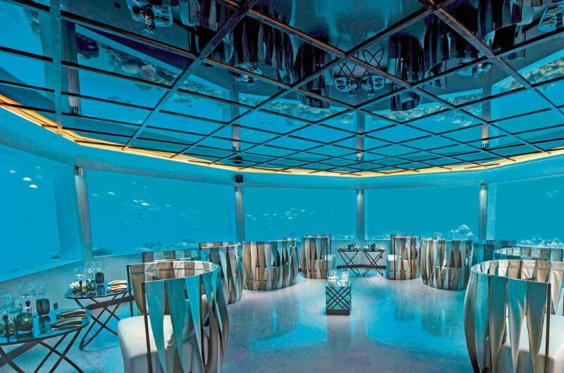 undervattensrestaurang maldiverna - m6m ozen